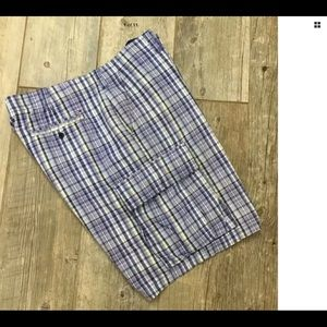 Tommy Hilfiger Blue Plaid Men's Cargo Shorts sz 40